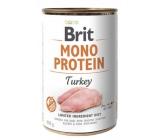 Brit Mono Protein Krocan 100% čistý krůtí protein kompletní krmivo pro psy 400 g
