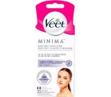 Veet Minima Easy-Gel hypoalergenní depilační voskové pásky na obličej 20 kusů