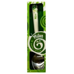 Nekupto Twister Lžička se jménem Milan zelená 16 cm
