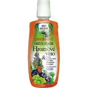 Bione Cosmetics Dentamint Hroznové víno ústní voda 500 ml