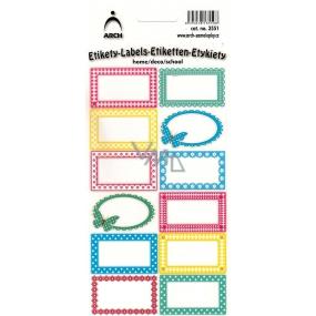 Arch Samolepky do domácnosti srapbookové 3551 12 etiket