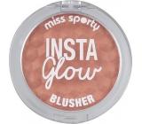 Miss Sporty Insta Glow Blusher tvářenka 005 Beaming Peach 5 g