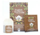 English Tea Shop Bio Rooibos Čokoláda a Vanilka čaj 20 kusů bioodbouratelných pyramidek čaje 40 g