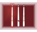 Lima Svatební svíce Zlaté prstýnky svíčka bílá kužel 22 x 250 mm