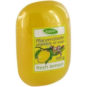 Kappus Fresh Lemon glycerinové toaletní mýdlo s rostlinným olejem 100 g