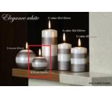 Lima Elegance White svíčka světle hnědá koule 60 mm 1 kus