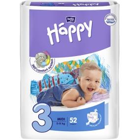 Bella Happy 3 Midi 5-9 kg plenkové kalhotky 52 kusů