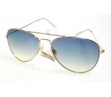 Dudes & Dudettes Sluneční brýle pro děti zlaté, kouřová skla JK5560