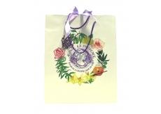 Jeanne en Provence Dárková papírová taška střední 24,5 x 30 cm bílá s logem