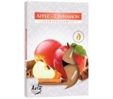 Bispol Aura Apple-Cinnamon - Jablko a skořice vonné čajové svíčky 6 kusů