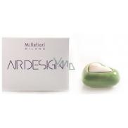 Millefiori Air Design Difuzér nádobka pro vzlínání vůně pomocí porézní vrchní části srdce zelené