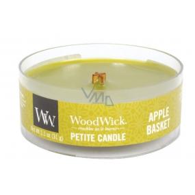 WoodWick Apple Basket - Košík jablek vonná svíčka s dřevěným knotem petite 31 g