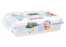Pure Soft Touch vlhčené ubrousky pro děti s klipem 120 kusů