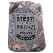 Albi Skládací taška na zip do kabelky s nápisem Pro štěstí 42 x 41 x 11 cm