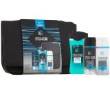 Axe Ice Chill sprchový gel pro muže 250 ml + deodorant sprej pro muže 150 ml + antiperspirant deodorant sprej pro muže 150 ml + batoh, kosmetická sada