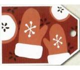 Nekupto Vánoční kartičky na dárky rukavice 5,5 x 7,5 cm 6 kusů