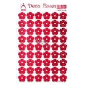 Arch Holografické dekorační samolepky květiny červené