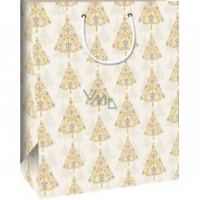 Ditipo Dárková papírová taška 32,4 x 10,2 x 44,5 cm stromeček