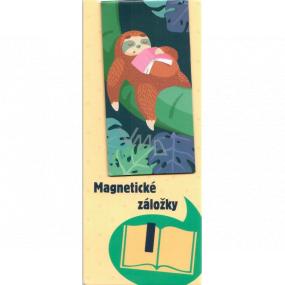 Albi Magnetická záložka do knížky Lenochod spící s knihou 8,7 x 4,4 cm