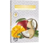 Bispol Aura Mango & Coconut - Mango a kokos vonné čajové svíčky 6 kusů