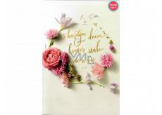 Albi Hrací přání do obálky K narozeninám Focené květy Růže kvetou dál Helena Vondráčková 14,8 x 21 cm