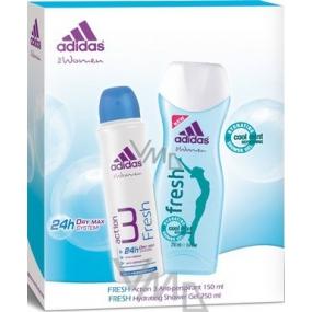 Adidas Action 3 Fresh deodorant antiperspirant sprej 150 ml + Fresh sprchový gel 250 ml, dárková sada