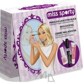 Miss Sporty řasenka 8 ml + lesk na rty 9 ml + lak na nehty 8 ml, kosmetická sada