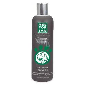 MenForSan Zvýrazní hnědou barvu přírodní šampon pro psy 300 ml