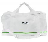 Hugo Boss Sport Bag Taška sportovní bílá zelený pruh 50 x 25 x 27 cm