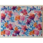 Albi Pouzdro na dokumenty Akvarelové květy B6 -125 × 176 mm