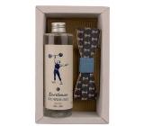 Bohemia Gifts Sůl z Mrtvého moře Sportsman sprchový gel 250 ml + dřevěný motýlek, pro muže kosmetická sada