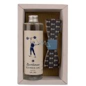 Bohemia Gifts & Cosmetics Sůl z Mrtvého moře Sportsman sprchový gel 250 ml + dřevěný motýlek, pro muže kosmetická sada