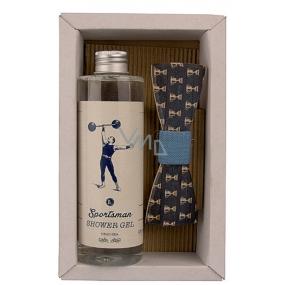 Bohemia Gifts Sportsman sprchový gel 250 ml + dřevěný motýlek, pro muže kosmetická sada
