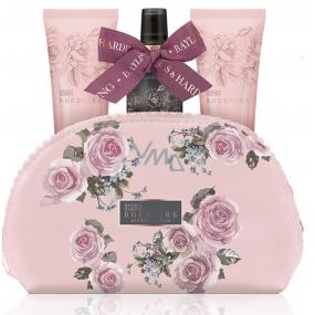 Baylis & Harding Okvětní lístky růže sprchový krém 100 ml + mléko na ruce a tělo 100 ml + tělový sprej 100 ml + kosmetická kabelka dárková sada