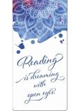 Albi Magnetická záložka do knížky Anglický kaligrafický text 8,7 cm x 4,4 cm