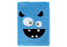 Albi Blok chlupatý Ksichtík modrý 16 cm x 22 cm