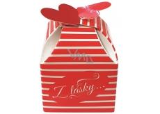 Liran Čaj Z lásky pruhovaná krabička 5 x 5 x 6,5 cm, 2 g