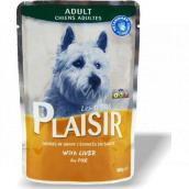 Plaisir Dog s játry kompletní krmivo pro dospělé psy kapsička 100 g