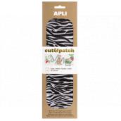 Apli Cut & Patch papír na ubrouskovou techniku Zebra 30 x 50 cm 3 kusy
