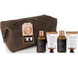 Baylis & Harding Zázvor a limetka šampon na vlasy 100 ml + mycí gel na tělo 100 ml + sprchový gel 50 ml + balzám po holení 50 ml + toaletní taška z umělé kůže, kosmetická sada pro muže