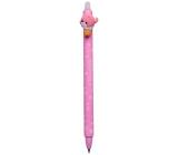 Colorino gumovatelné pero Candy Cats světle růžové, modrá náplň 0,5 mm