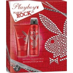 Playboy Play It Rock deodorant sprej 150 ml + sprchový gel 150 ml, kosmetická sada
