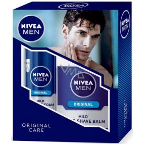 Nivea Original pěna na holení 200 ml + Mild balzám po holení 100 ml,pro muže kosmetická sada