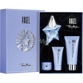 Thierry Mugler Angel parfémovaná voda 25 ml + tělové mléko 100 ml + sprchový gel 30 ml + tělový krém 15 ml, dárková sada