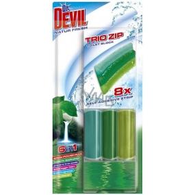 Dr. Devil Natur Fresh 6v1 Trio Zip Wc samolepící blok 60 g