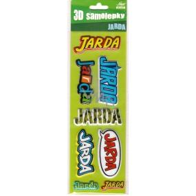 Nekupto 3D Samolepky se jménem Jarda 8 kusů 034