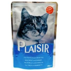 Plaisir Cat Pstruh a krevety kapsička 100 g