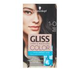 Schwarzkopf Gliss Color barva na vlasy 1-0 Černý 2 x 60 ml