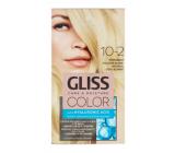 Schwarzkopf Gliss Color barva na vlasy 10-2 Přirozená chladná blond 2 x 60 ml
