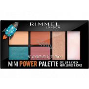 Rimmel London Mini Power Palette paletka očních stínů, rty a tváře 004 Pioneer 6,8 g